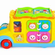 Autobuz scolar cu sunete si lumini, Hola Toys