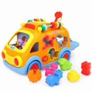 Camioneta cu forme cu sunete si lumini, Hola Toys