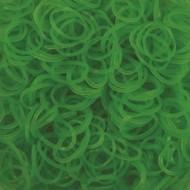 Elastice neon verde, Rainbow Loom, 300 buc