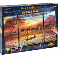KIT PICTURA PE NUMERE SCHIPPER AFRICA UN CONTINENT MAGIC, 3 TABLOURI