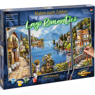 KIT PICTURA PE NUMERE SCHIPPER UN LOC ROMANTIC, 3 TABLOURI
