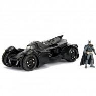 Masinuta Metalica Batman Batmobile Arkham Knight Cu Figurina Inclusa, 20 Cm