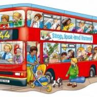 Puzzle de podea Autobuzul, 15 piese