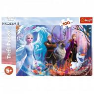 Puzzle Trefl Disney Frozen II, Lumea Magica, 100 Piese