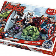 Puzzle Trefl Incepe atacul, Marvel, 100 piese