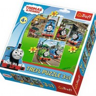 Puzzle Trefl Thomas Intra In Actiune, 3 in 1, 20 / 36 / 50 piese