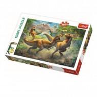 Puzzle Trefl, Tyrannozauri In Lupta, 160 piese