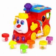 Trenulet educativ cu forme cu sunete si lumini, Hola Toys