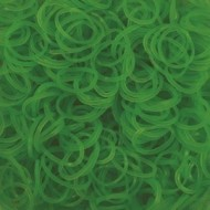 Elastice neon verde, Rainbow Loom, 600 buc