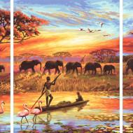 KIT PICTURA PE NUMERE SCHIPPER AFRICA UN CONTINENT MAGIC, 3 TABLOURI