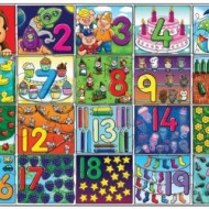 Puzzle de podea Invata numerele de la 1 la 20