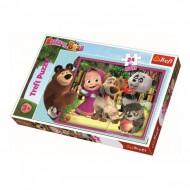 Puzzle Trefl Maxi Masha si Ursul, 24 piese