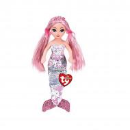 TY Sirena Roz De Plus Cu Paiete, 27cm