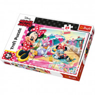Puzzle Trefl Maxi Minnie In Vacanta, 24 Piese