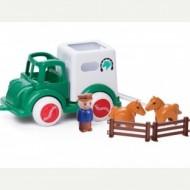 Camion Transport Cai cu figurine Jumbo