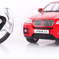 MASINA CU TELECOMANDA BMW X6 ROSU CU SCARA 1 LA 14