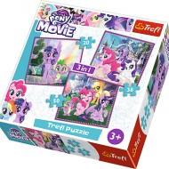 Puzzle Trefl My Little Pony, Magia Prieteniei, 3 in 1, 20 / 36 / 50 piese
