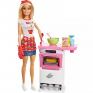 Set Papusa Barbie In Bucatarie
