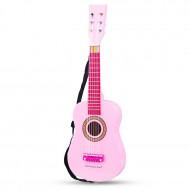 Chitara roz din lemn