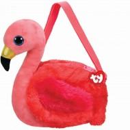 Gentuta De Umar Din Plus TY Flamingo Gilda, 15 cm