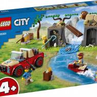 LEGO CITY MASINA DE TEREN PENTRU SALVAREA ANIMALELOR SALBATICE 60301