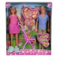Papusa Steffi Love Insarcinata, O Familie Fericita, SImba Toys