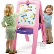 Tabla dubla pentru copii, roz
