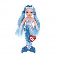 TY Sirena Albastra De Plus Cu Paiete, 27cm