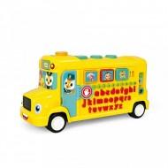 Autobuz scolar educativ cu lumini si sunete, Hola Toys