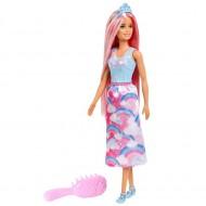 Papusa Barbie Dreamtopia, Printesa Curcubeului cu parul roz stralucitor