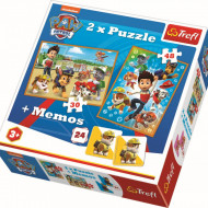 Puzzle Patrula Catelusilor, 2 in 1 memo