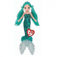 TY Sirena Verde De Plus Cu Paiete, 27cm