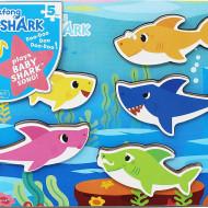 BABY SHARK PUZZLE DIN LEMN MUZICAL 5 PIESE
