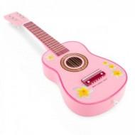 Chitara de lemn roz