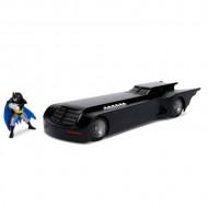 Masinuta Metalica Batman Batmobile Seria Animata Cu Figurina Inclusa, 20 Cm