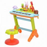 Orga muzicala cu scaunel si orchestra animalutelor, Hola Toys