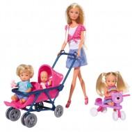 Papusa Steffi Love cu 3 bebelusi, SImba Toys