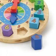 Puzzle din lemn Ceas