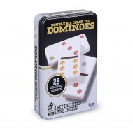 Joc Domino 6 Culori In Cutie De Metal, Spin Master