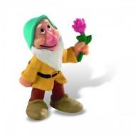 Figurina Disney Alba ca Zapada, piticul Bashful