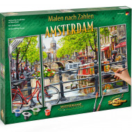 KIT PICTURA PE NUMERE SCHIPPER AMSTERDAM OLANDA, 3 TABLOURI