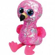 Plus TY cu paiete, Flamingo roz, 42 Cm