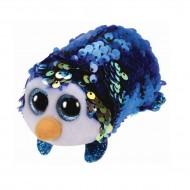 Plus TY Teeny Tys Cu Paiete, Pinguin Albastru, 10 cm