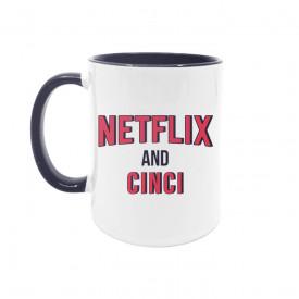 Cană Netflix and cinci