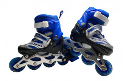 Role Reglabile 3 in 1 Mondays Skates cu roti din silicon cu LED, marime 30-33, Blue