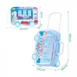 Trusa medicala in valiza 9 piese Madical Trolley Suitcase