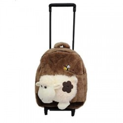 Ghiozdan cu troler detasabil, Happy Sheep Brown