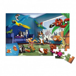 Puzzle gigant 48 piese, Pet Party, Jumbo Floor, Multicolor