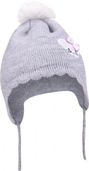 Caciulita pentru bebelusi cu ciucuras din blanita (Marime Disponibila: Nou nascuti)