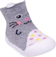 Mocasini pentru fetite cu talpa antiderapanta - Happy Kitty (Marime Disponibila: Marimea 21)
